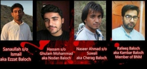 Occupied Balochistan: Leader of BSO including three other Baloch activist abducted by Pakistani Army fr...
