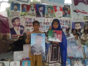 Protest of the families of abducted Baloch continue outside Quetta Press Club